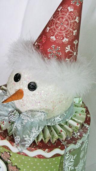 Snowman Head close-up