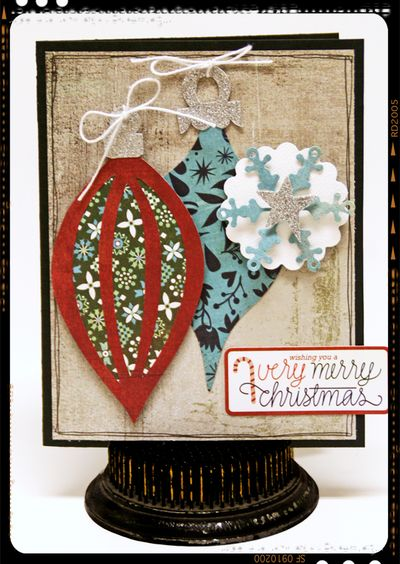 Sizzix Card- framed