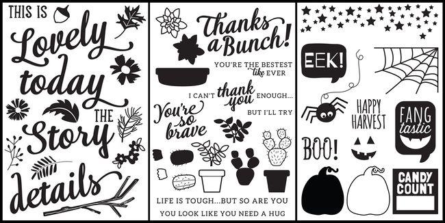 October Stamp sets